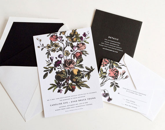 Flora Wedding Invitations | Hello Tenfold