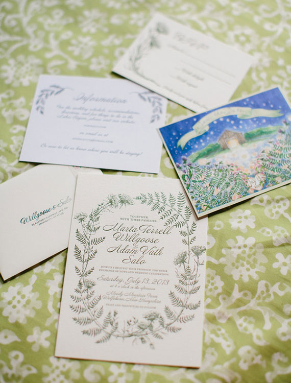 Marta + Adam's New Hampshire Farm Wedding Invitations | Lion in the Sun