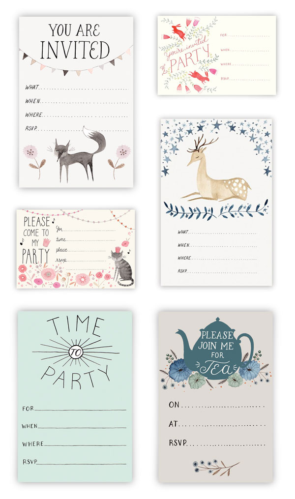 Printable Invitations by Julianna Swaney