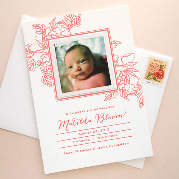 Bloom Birth Announcement | Missive