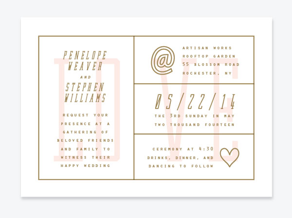Type Five Wedding Invitations | Up Up Creative