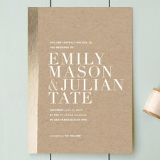 Band of Gold Wedding Invitations | Annie Clark