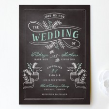 Floral Chalkboard Wedding Invitations | Lehan Veenker