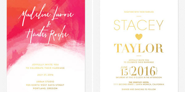 Gold Foil Stamped Invitations from Love vs. Design