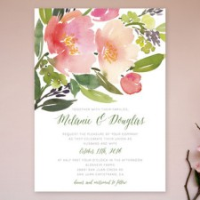 Watercolor Floral Wedding Invitations | Yao Cheng