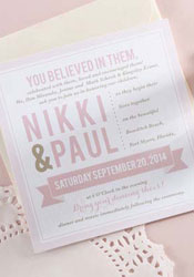 Modern Blush Pink + Gold Wedding Invitations