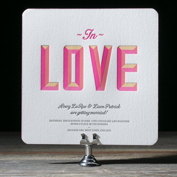 Avery Wedding Invitations by Ian Koenig for Bella Figura