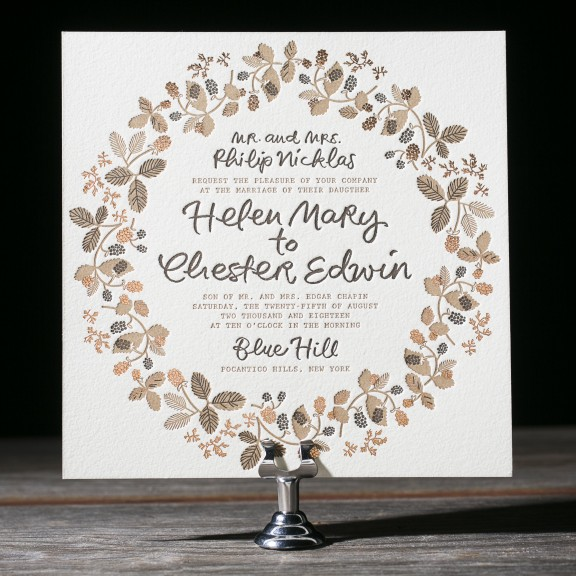 Bounty Wedding Invitations by Patricia Mumau for Bella Figura