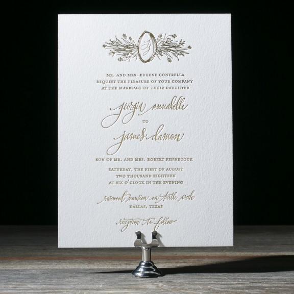 Cordelia Wedding Invitations by Kelle Anne McCarter for Bella Figura
