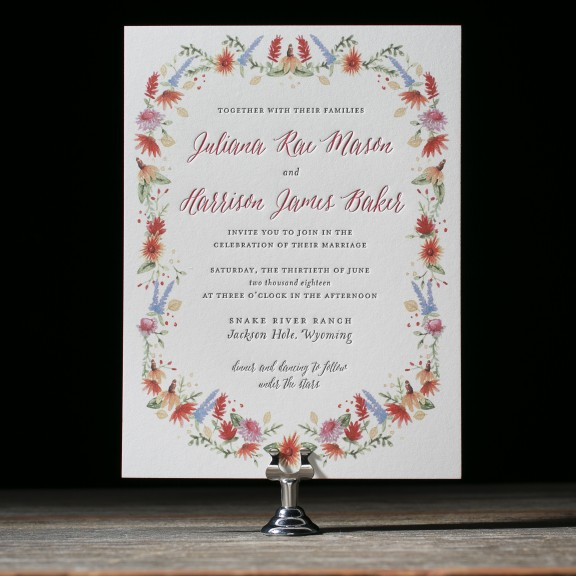 Lupin Wedding Invitations by Courtney Jentzen for Bella Figura