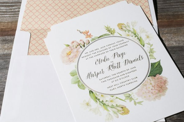 2015 Wedding Invitation Collection from Bella Figura