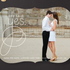 Simply Engaged Save the Date Cards
