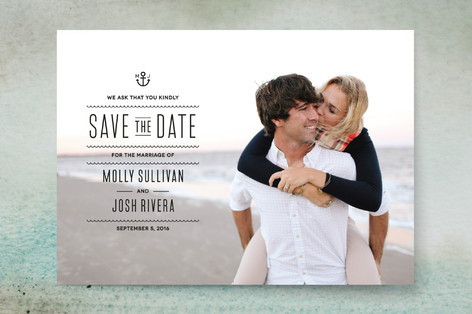 Nautical Save The Date Cards By Splendid Supply Co