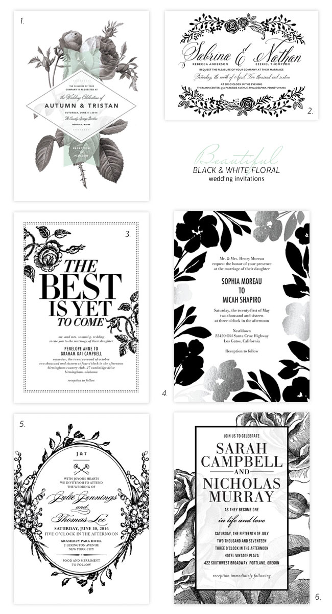 Beautiful Black & White #Wedding Invitation Ideas
