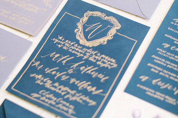 Indigo Blue Wedding Invitation Ideas