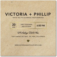 Foil Stamped Kraft Wedding Invitations by Magnolia Press