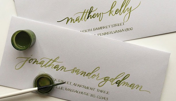 Envelope Calligraphy By Anne Robin