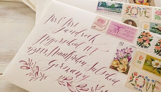 Calligraphy by Annie Mertlich / Wildfield Paper Co.