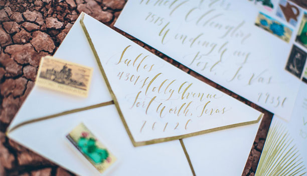 Envelope Calligraphy by Lauren Essl / Blue Eye Brown Eye