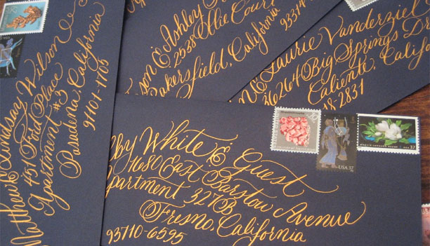 Wedding Envelope Calligraphy by Calligraphy by Hillary