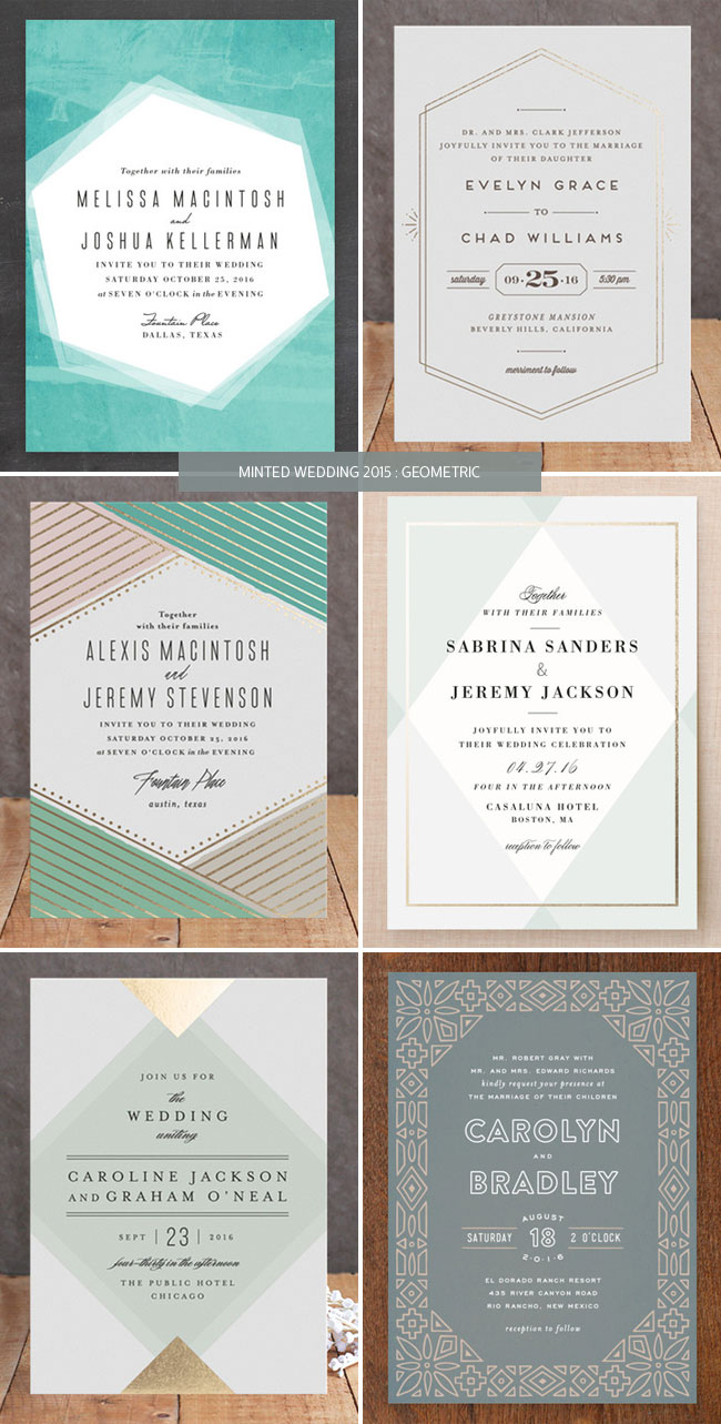 Modern Geometric Wedding Invitations from Minted