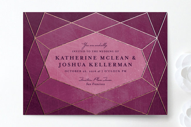 Abstract Jewel Wedding Invitations by Rebecca Bowen for Minted