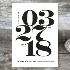 Bold Date Save the Date Cards by Paper and Parcel