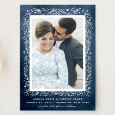 Botanical Frame Save the Date Cards by Kristie Kern