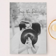 Arrow Save the Date Cards by Peony Papeterie