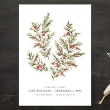 Botanical Winter Save the Date Cards by Wildfield Paper Co.