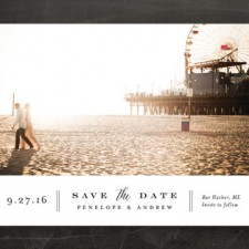 Horizontal Type Save the Date Cards by Jennifer Wick