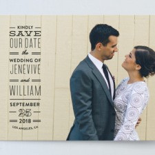 Clean Type Save the Date Cards by Splendid Supply Co.