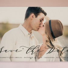 Calligraphy Type Save the Date Cards by Lehan Veenker