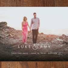 Minimalist Modern Save the Date Cards by Sarah Curry