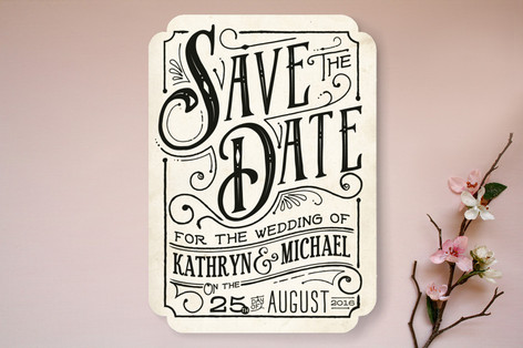 inked save the date cards by geekink design