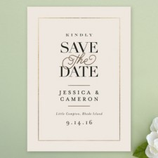 Elegant Ivory Save the Date Cards by Jennifer Wick