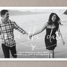 Knotted Save the Date Cards by Lea Delaveris