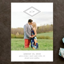 Preppy Monogram Save the Date Cards by Stacey Meacham