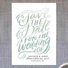 Script Lettering Save the Date Cards by Alethea & Ruth