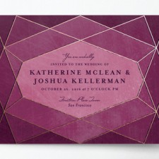 Abstract Jewel Wedding Invitations by Rebecca Bowen