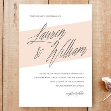 Modern Color Sash Wedding Invitations by Carolyn MacLaren