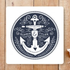 Anchor Tattoo Love Wedding Invitations by Kim Mesman