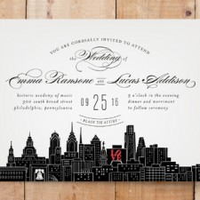 Philadelphia City Wedding Invitations by Hooray Creative