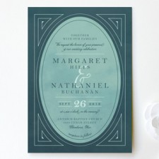 Classic Deco Frame Wedding Invitations by Keen Peachy