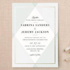 Color Block Corners Wedding Invitations by Chocomocacino
