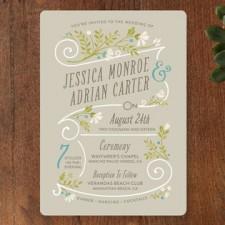 Delicate Blooms Wedding Invitations by Geekink Design