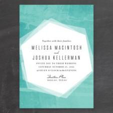 Geometric Watercolor Wedding Invitations by Rebecca Bowen