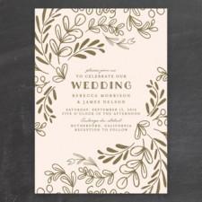 Wedding Vines Wedding Invitations by Chris Griffith