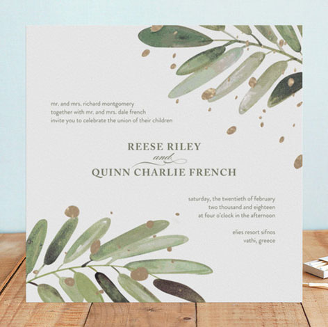 Al Fresco Foil Pressed Wedding Invitations