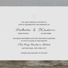 Simple Elegance Foil Wedding Invitations by Bethan